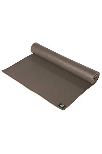 Lotus Design - Alfombrilla de yoga (3 mm, estándar Oeko Tex), color marrón