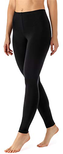 Merry Style Leggins Largos Mallas Deportivas Mujer MS10-143 (Negro, M)