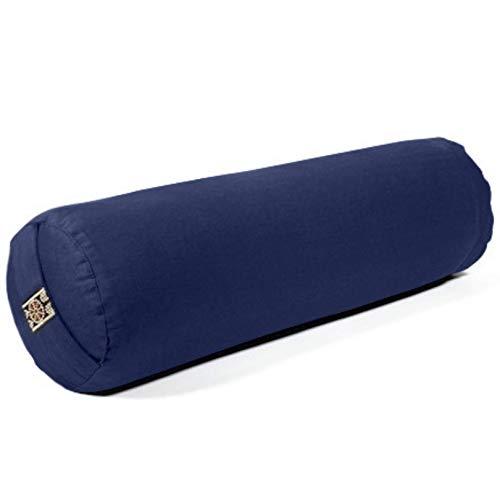 Yamkas Yoga Bolster (Blue, 40 x 12Ø)