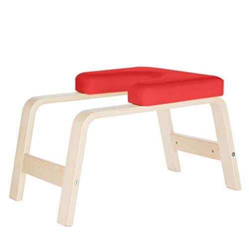 Silla de yoga para madera Banco de soporte para la cabeza, Fitness Banco de inversión de abedul blanco Silla de yoga, Cuerpo equilibrado Soporte para la cabeza Banco de silla ideal, Headstander origin