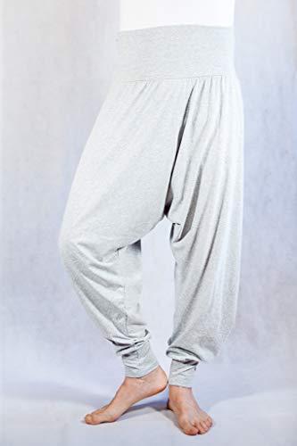 Pantalones Yoga Pilates Harem Etnicos Uniforme Comodos Hombre Mujer Lisos Negro Gris Marino Blanco Tallas Adulto y Tallas Grandes 2XL (Gris Claro, XXL)