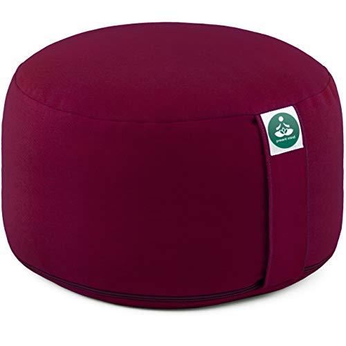 Present Mind Cojín de meditación Yoga – Altura 20 cm - Funda de algodón Lavable