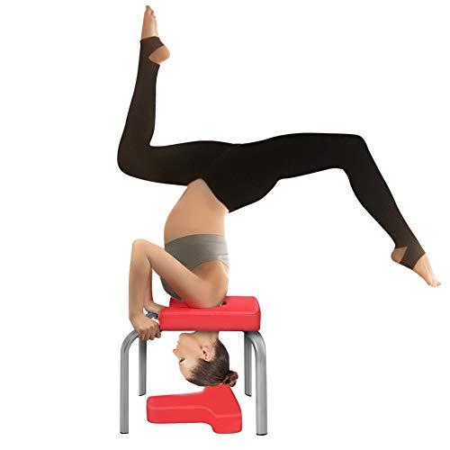 Taburete de yoga con soporte para la cabeza, silla de entrenamiento, asiento de poliuretano, para deporte, gimnasio, gimnasio familiar, alivio de estrés
