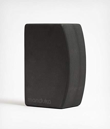 Manduka Recycled Foam Block Bloque de Yoga de Espuma Reciclado unblok, Unisex Adulto, Gris, 9''L x 6''H x 4''D