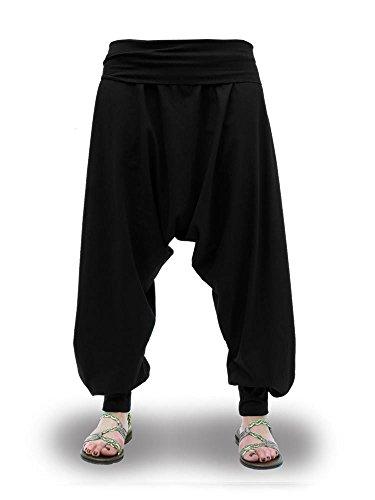 Pantalones Harem Cagados Etnicos Yoga Thai Unisex Cuatro Tallas (M)