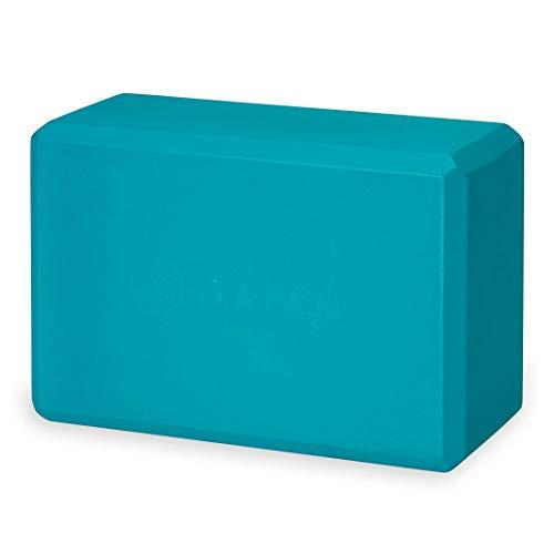 gaiam - Bloque de Yoga de Apoyo Libre de látex EVA Superficie Suave Antideslizante para Yoga, Pilates, meditación, 05-61714, Azul Intenso.