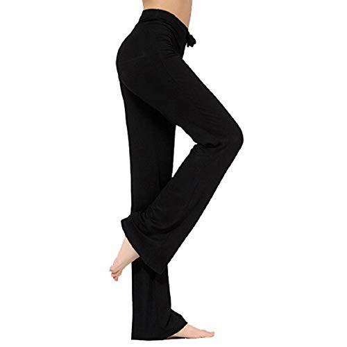 TownCat Pantalones de Entrenamiento para Mujer, Pantalones de Yoga, Pantalones Informales de Yoga con cordón para Yoga y Correr, Tallas (Negro, XXXL)