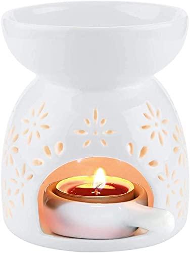 Richaa Quemadores de aceites esenciales de cera derretida con Cuchara de Velas para Yoga SPA Navidad Decoración