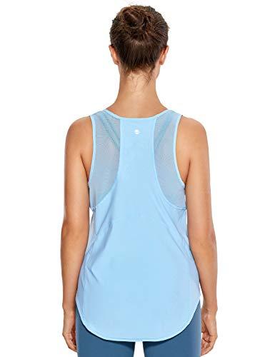 CRZ YOGA Mujer Camiseta de Tirantes de Malla Sin Mangas de Yoga Fitness Deportiva Ventoso 44