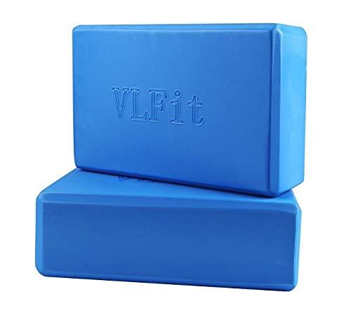 VLFit Juego de 2 Espuma EVA Bloques de Yoga (Azul)