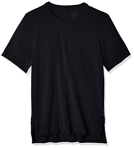 NIKE BV4034 M NK DF Top SS Yoga T-Shirt Mens Black/Iron Grey L