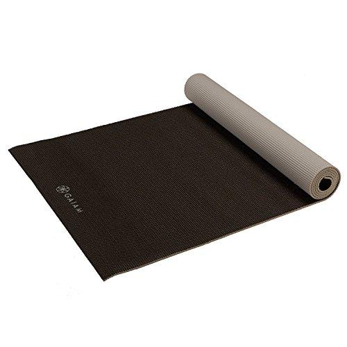 gaiam Premium Solid Yoga Mat, Gris, 5 mm