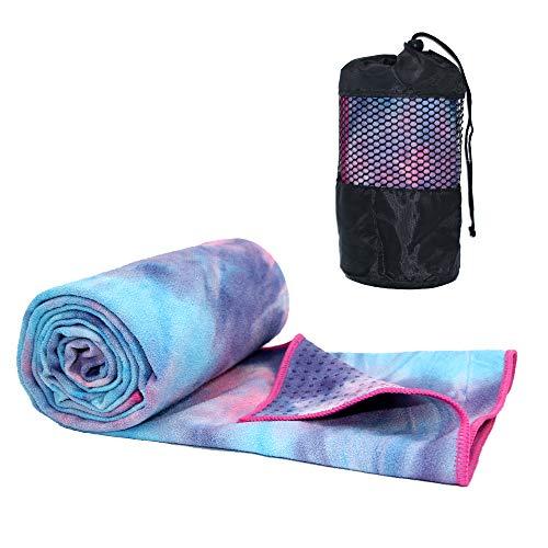 ATIVAFIT Toalla de Yoga Antideslizante, Supersuave, Absorbente, tamaño Yoga, Pilates y Entrenamientos, 188 x 64 cm