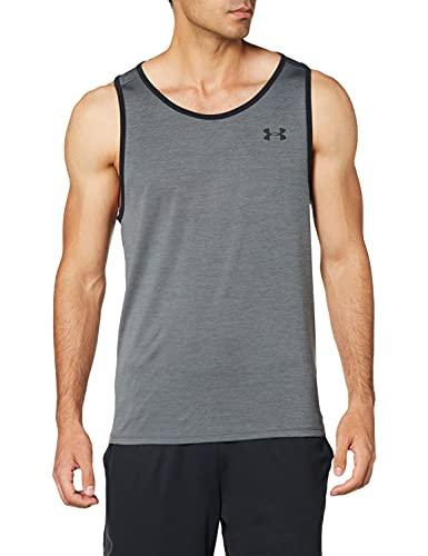 Under Armour Camiseta sin Mangas Tech 2.0 para Hombre, Hombre, Camiseta sin Mangas para Hombre, 1328704, Pitch Gray, XXX-Large