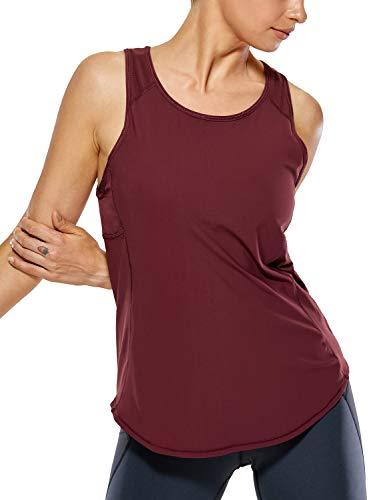 CRZ YOGA Mujer Camiseta de Tirantes de Malla Sin Mangas de Yoga Fitness Deportiva Zinfandel 44
