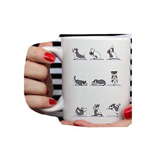 Schnauzer Gifts   Schnauzer Loves Yoga Mug   El mejor regalo para los amantes de Schnauzer   Schnauzer Mom