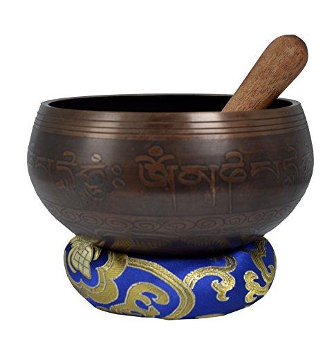 La meditación Cuenco Tibetano con Picazón Especial y de protección de la bolsa-D-FISH (Medium)