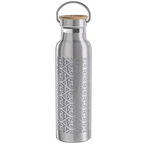Lotuscrafts Botella Agua Acero Inoxidable [600 ml] - Doble Pared - 100% Hermética y Antiderrames - Ideal para Yoga, Deporte y Vida Cotidiana - Botella Termo para Bebidas Frías y Calientes