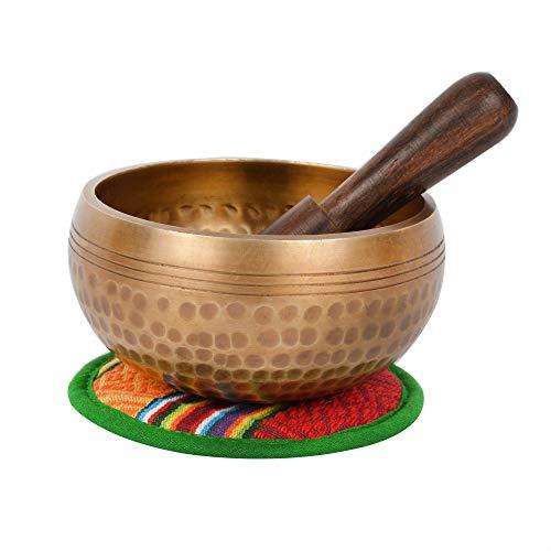 Tibetano mano martillado meditación canto cuenco con bolsa étnica. Para la atención plena, la relajación y la curación (Ham-Sl) (B66)