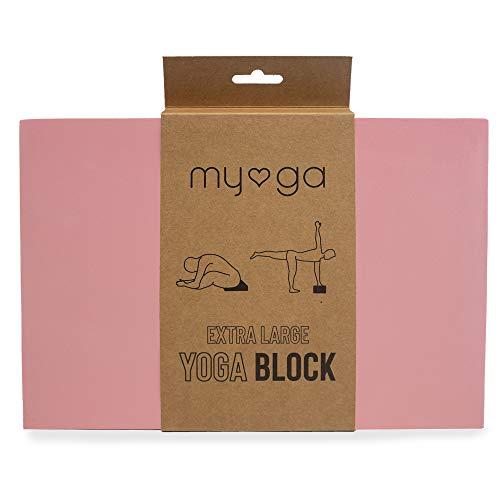 Myga RY1150 Dusty Pink Bloque de Yoga de Espuma Extra Grande - Ladrillo de Yoga de Espuma EVA de Alta Densidad - Bloque de Yoga Pilates Resistente a la Humedad y a los olores Ligeros