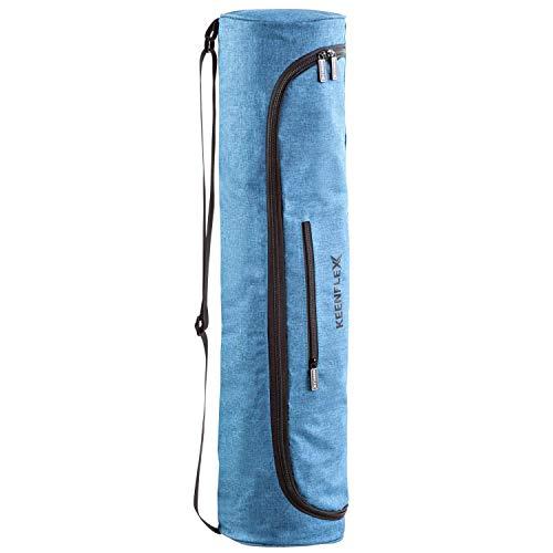 KeenFlex Bolsa de Esterilla de Yoga de Tela Ligera y cómoda y Resistente al Agua (Turquesa)