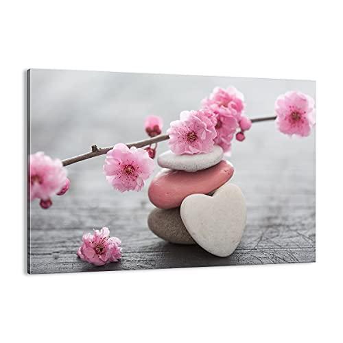 Cuadro sobre lienzo - Impresión de Imagen - yoga femenino flor salud - 70x50cm - Imagen Impresión - Cuadros Decoracion - Impresión en lienzo - Cuadros Modernos - Lienzo Decorativo - AA70x50-3178
