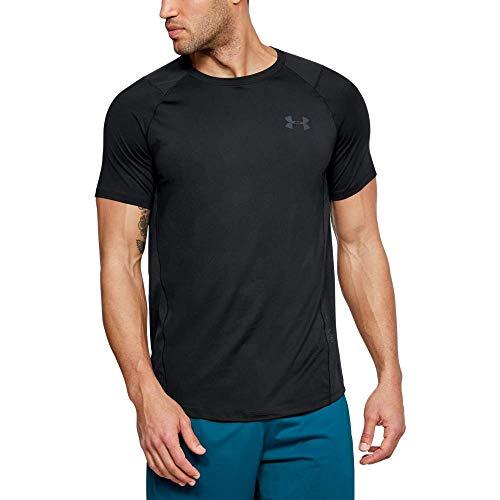 Under Armour MK1 Short Sleeve EU SMU Camiseta, Hombre, (Black/Stealth Gray (001), M