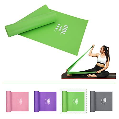 Amazon Brand - Umi - Bandas Elásticas Banda de Resistencia de Fitness Yoga Pilates, para rehabilitación y Terapia Física para Hombres y Mujeres Bandas Ejercicio (Verde, 2M)