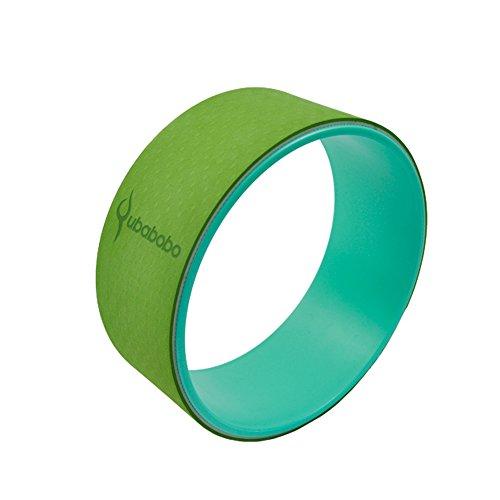 QUBABOBO - Rueda de Yoga, con un diseño Muy Resistente,para Realizar estiramientos, para Realizar posturas de Yoga, Realizar Ejercicios de flexión de Columna o la Postura del Puente