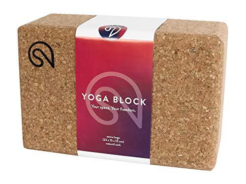 Shanti Nation - Bloque Shanti XL – Bloque de Yoga Grande – 23 x 15 x 10 Pulgadas – Hecho de Corcho Natural – Fabricado en Europa