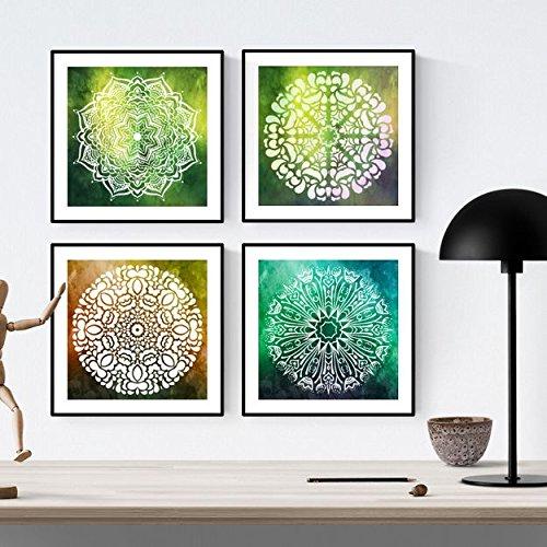 PACK de láminas para enmarcar EQUILIBRIO. Posters cuadrados con imágenes de mandalas. Decoración de hogar. Láminas para enmarcar. Papel 250 gramos alta calidad