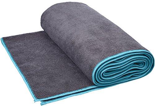 Amazon Basics - Toalla para yoga, Azul