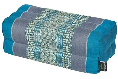 Handelsturm Bloque de Yoga para la meditación (35x15x10 cm, cojín de Soporte con Relleno de kapok), diseño Rojo y Verde