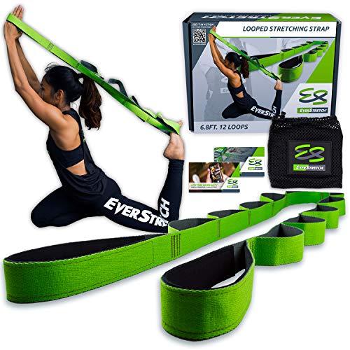EverStretch Correa Yoga No Elástica Correa de Estiramiento de Yoga Multi-Loop - Muévete libremente con este Cinturón yoga Premium para deportes, fisioterapia, convalecencia para operaciones de rodilla