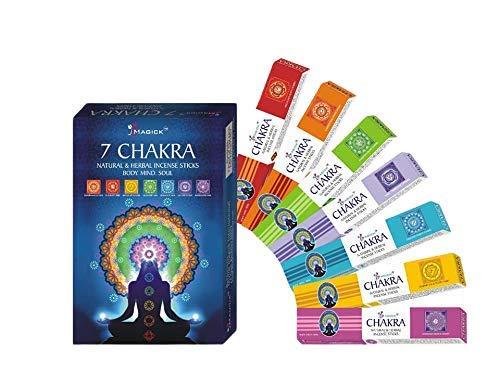 Divine Magick 7 varillas de incienso de chakras, 15 g, 7 paquetes