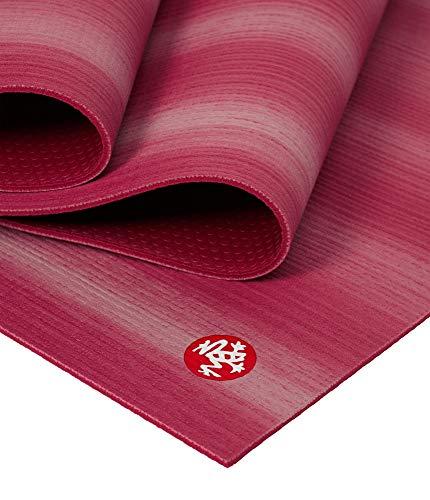 Manduka Prolite Esterilla de yoga y pilates de 4,7 mm de grosor, antideslizante, no tóxica, respetuosa con el medio ambiente, 188 cm de largo, diseño de maka, fabricado con acolchado denso para estabilidad y apoyo