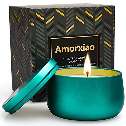 YMing Velas Aromática de Té Verde Limón Perfumada, 7 Oz Velas Perfumadas, 40-45 Horas de Quema,Cera de 100% Soja Velas,Fiesta Boda Yoga Navidad Día de Regalos,Regalos para Mujer