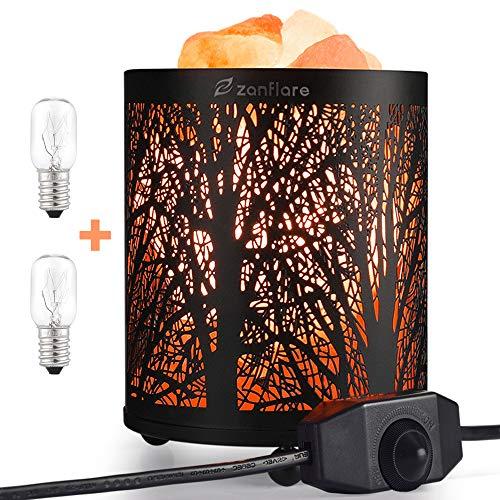 Lámpara de sal del Himalaya natural de Zanflare, luz nocturna, lámpara creativa con botón de configuración de intensidad. Saludable para su cuerpo, regalo de cumpleaños.