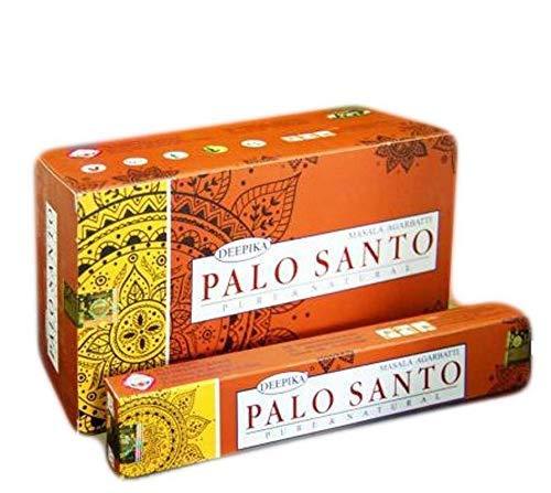 Deepika Palo Santo - Varillas de incienso (15 g, 12 paquetes)