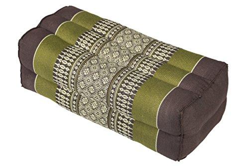 Handelsturm Bloque de Yoga para la meditación (35x15x10 cm, cojín de Soporte con Relleno de kapok), diseño Tradicional marrón y Verde
