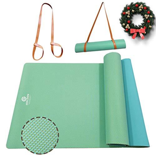 GOLDEN Esterilla Antideslizante para Yoga, Pilates, Fitness, Material Caucho Natural de Doble Cara, XL 183 x 61 x 0,4 cm, Esterilla de Deporte