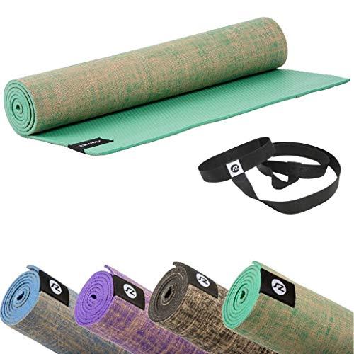 Sternitz Esterilla de Yoga ó Pilates Antiresbalante - Acolchada - Ecológica - Transportable. (Verde)