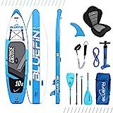 Paquete de Sup Bluefin Cruise   Tabla de Paddle Surf Hinchable   Remo de Fibra de Vidrio   Kit de Conversión a Kayak   Accesorios Completos   Varias Medidas: 10'8, 12', 15' (Azul 330cm)
