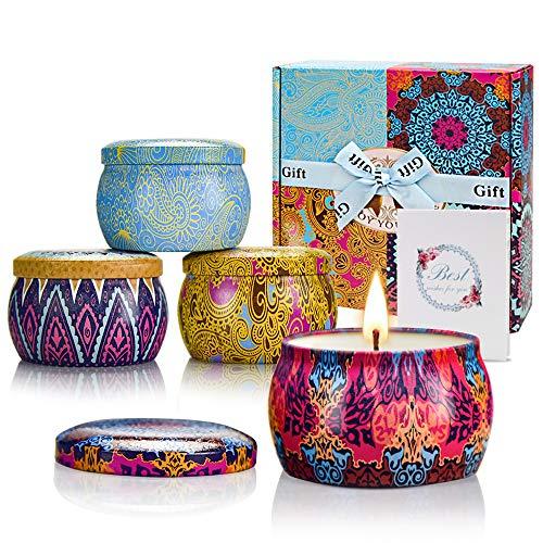 Yinuo Mirror Velas Aromaticas Decorativas,4x4,4 Oz Velas Perfumadas,Regalos Originales para Mujer,Viaje Adecuado para Yoga Baño Dormitorio
