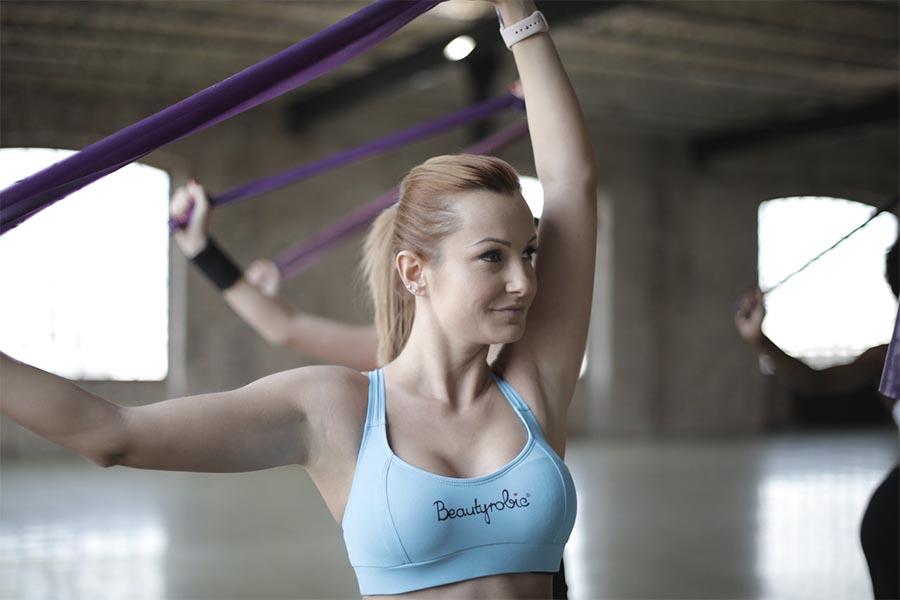 bandas elásticas de yoga