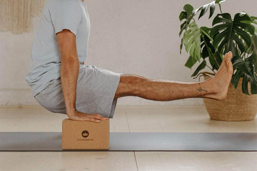 Bloques de yoga de corcho